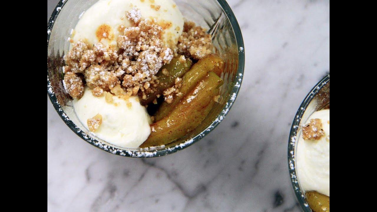 recept äppeldessert glas