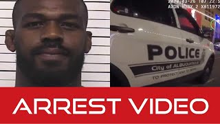 UFC champ Jon Jones DWI and negligent firearm use arrest video