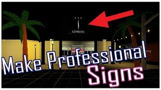 How To Make THE BEST Cafe/Restaurant/Mall Sign In Bloxburg | Roblox