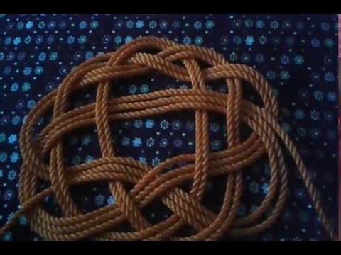 فن الحبال والعقد Marine knot  البوليط التساعي