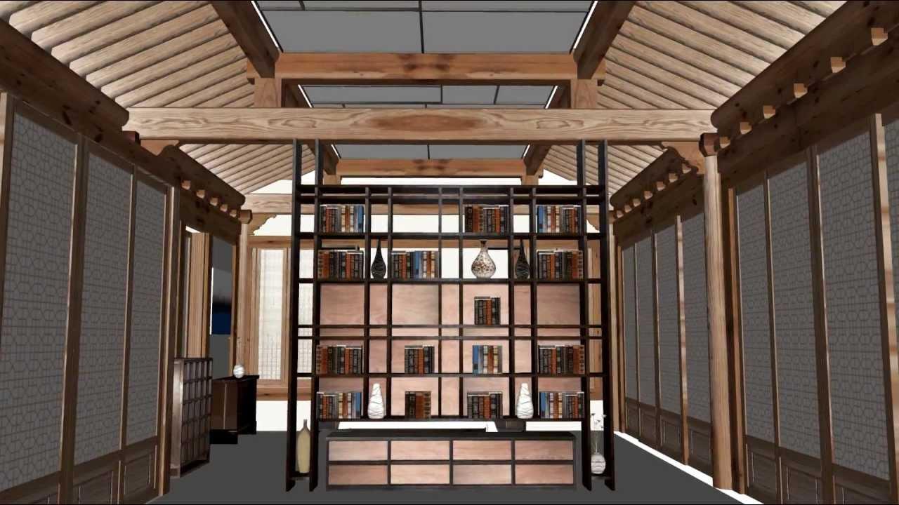 Sketchup Korean Style House Avi Youtube