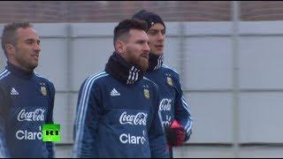 Месси провёл в Тушино тренировку в составе сборной Аргентины по футболу