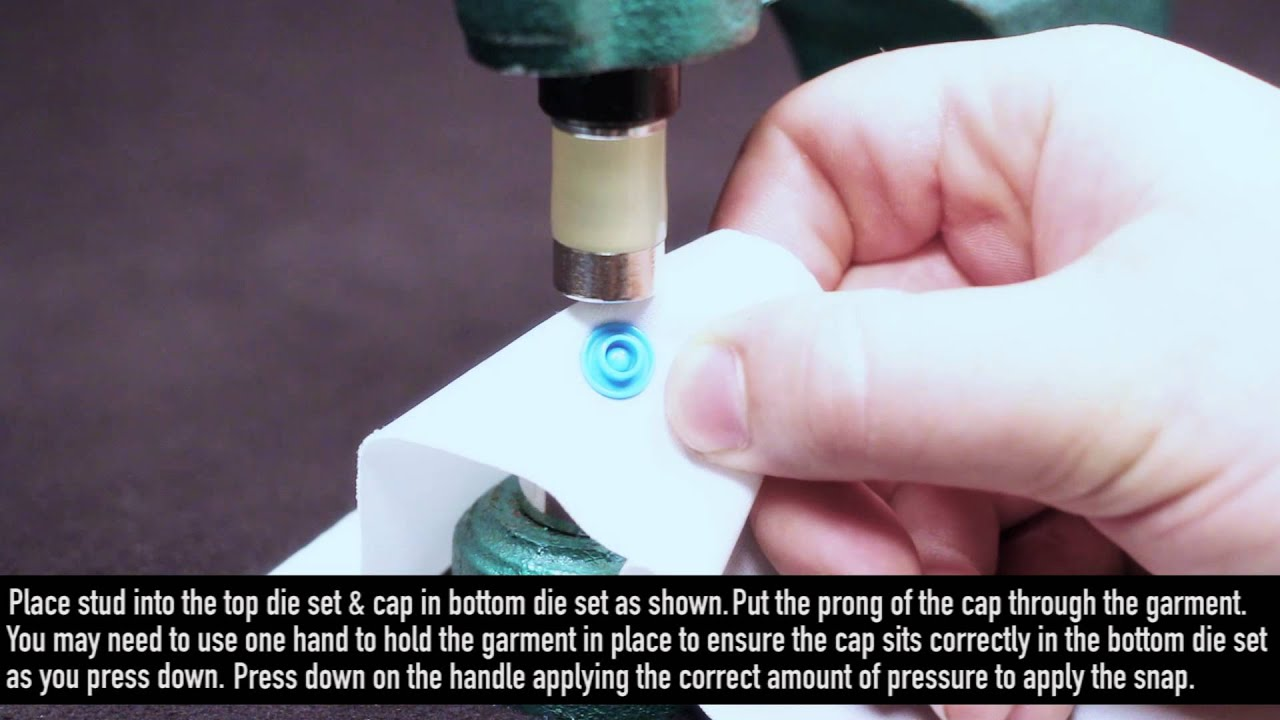 KAM DK-93 - How to apply Snaps with your KAM DK-93 Snap Press Machine