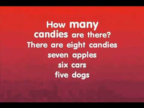 "English Numbers & Counting:kids English karaoke song - ""How many are there?"""