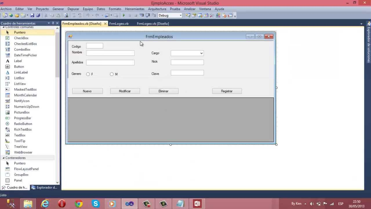 Registrar Modificar Y Eliminar En Visual Basic 2010 Y