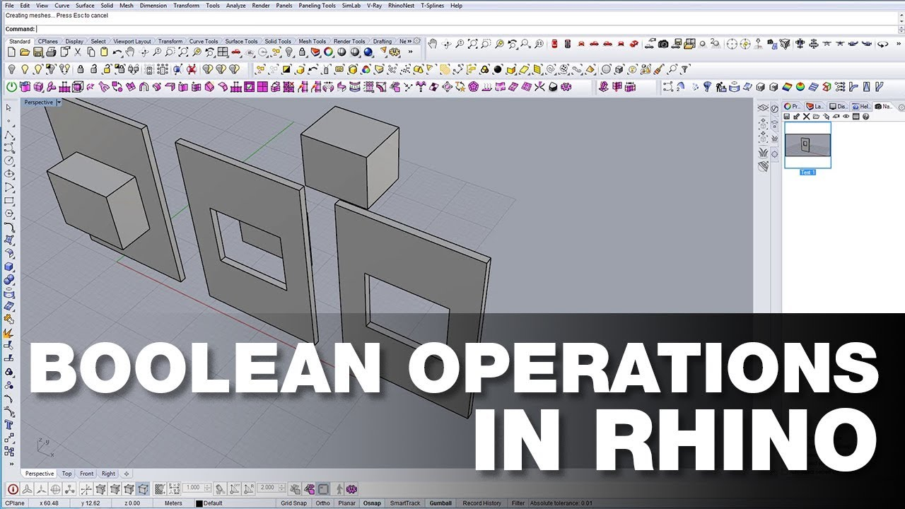 How to use Boolean Operations in Rhino