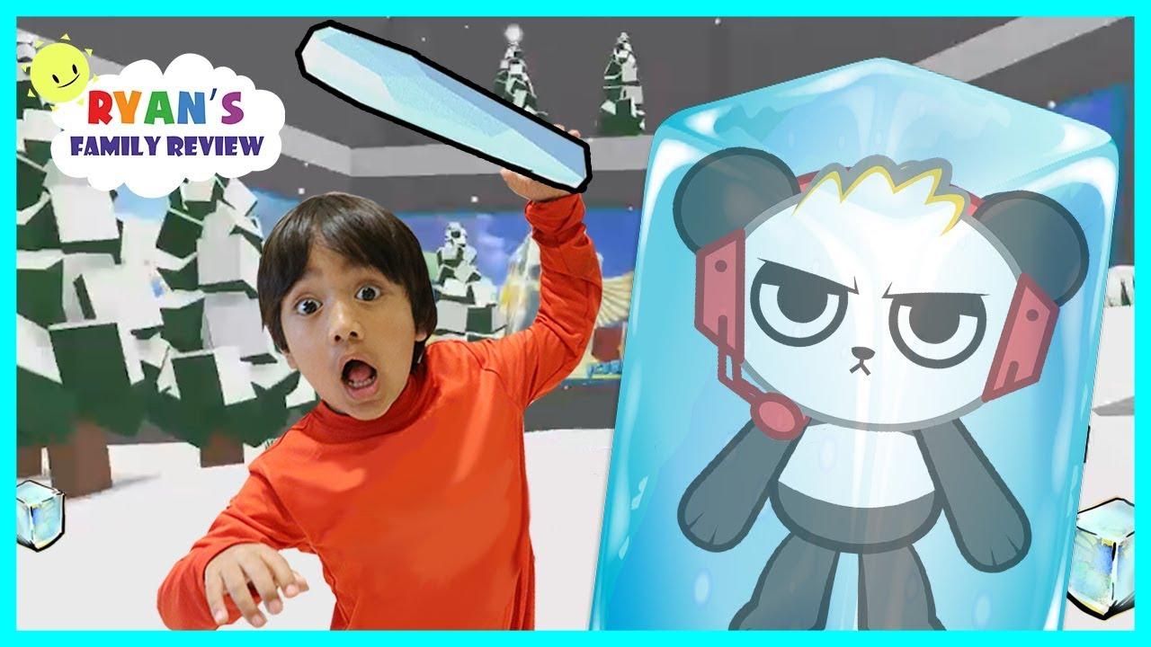 Ryan Toy Video Roblox Ryan Plays Ice Breaker On Roblox With Combo Panda Youtube