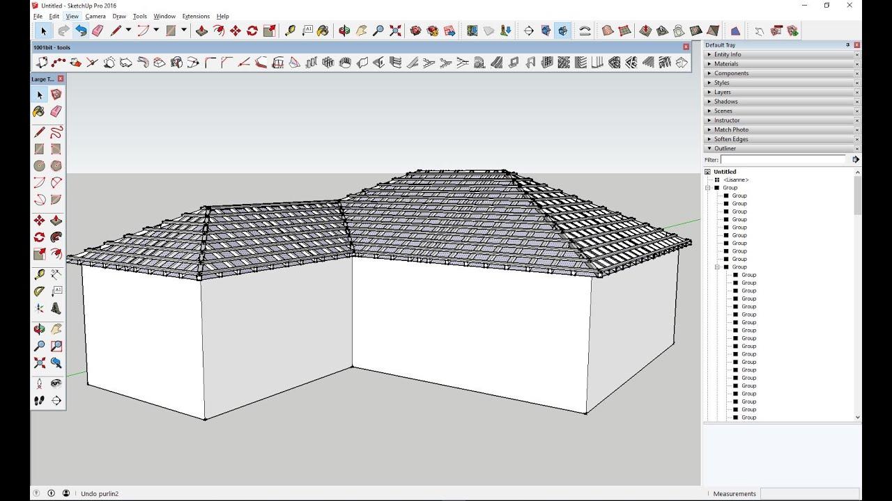 Ripado de telhado em segundos no SketchUp - SketchUp Portugal