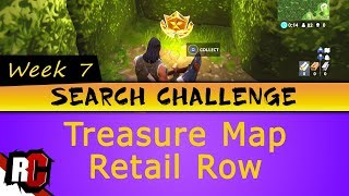 Fortnite WEEK 7 Search Challenge Location (Treasure Map in Retail Row / Star in Wailing Woods)