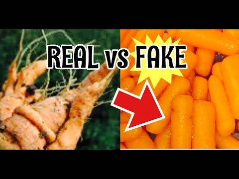 Real Vs Fake Baby Carrots You