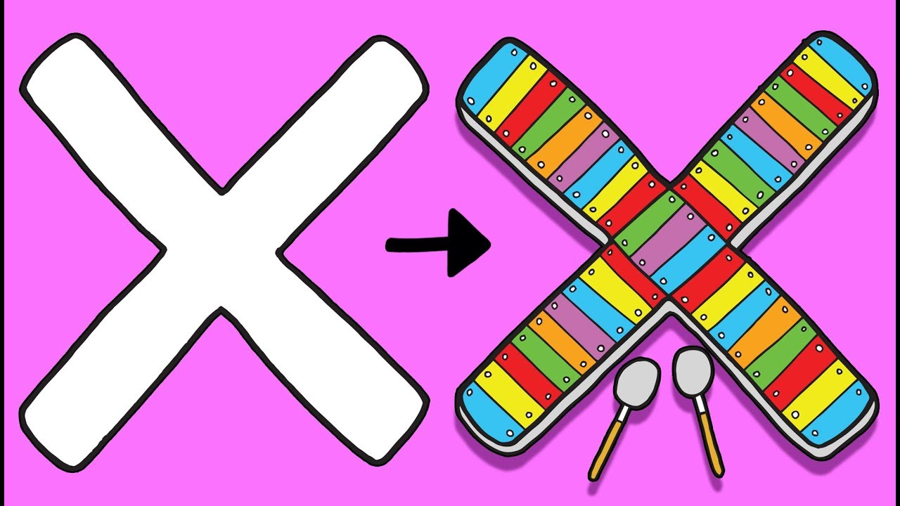 X for Xylophone - Learn to Draw ABC | Learn the Alphabet for Kids ...