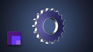 Photoshop CS6 - 3D Gear Icon & Custom Gear Vector Shape