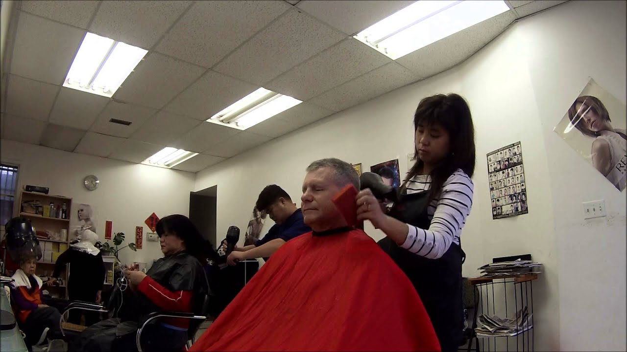 Hair Cut In Chinatown Youtube