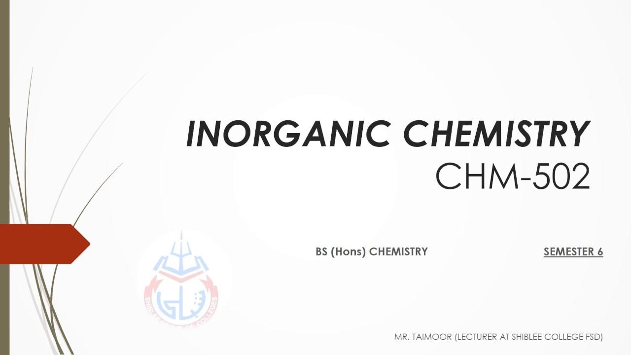 INORGANIC CHEMISTRY lecture 1 pat 1: Non aqueous solvent