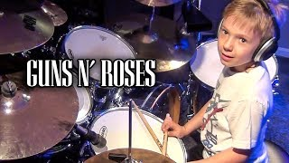 """Paradise City"" Avery 6 year old Drummer"