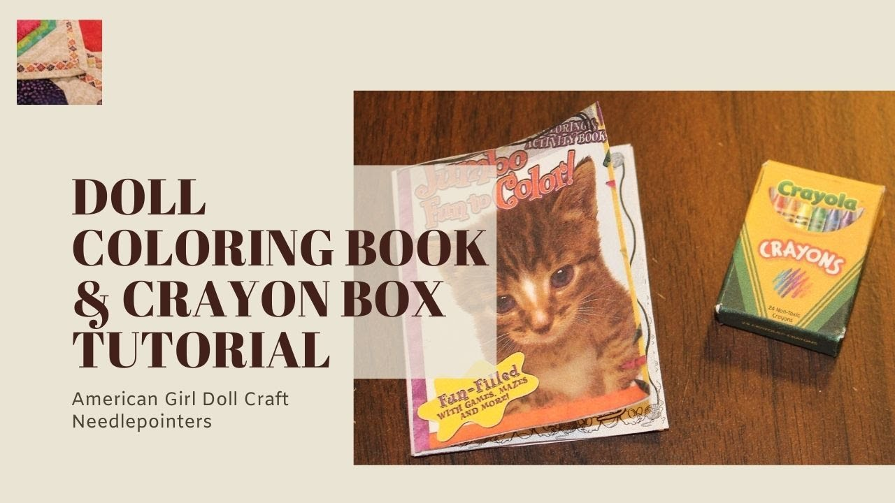 Doll Coloring Book and Crayon Box (American Girl Doll) - YouTube