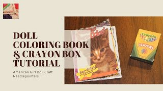 Doll Coloring Book and Crayon Box (American Girl Doll)