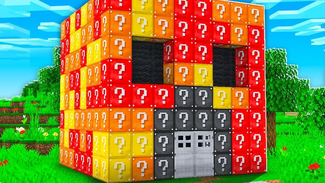 Download Preston vs Brianna Lucky Block House Battle! - Minecraft