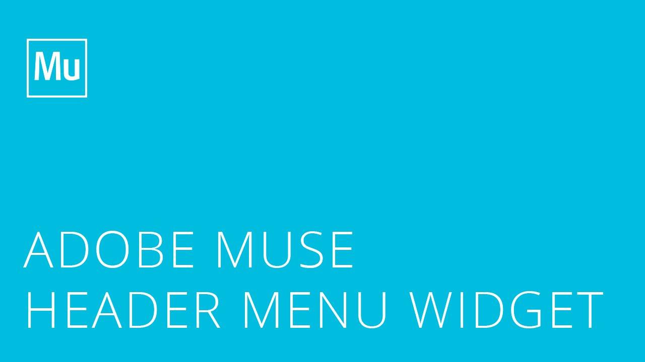 Header Menu Widget for Adobe Muse by Musefree