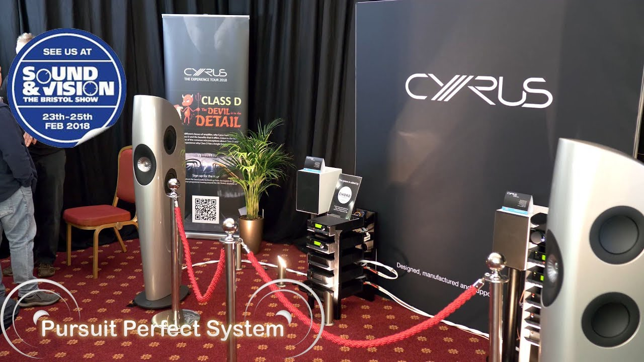 Cyrus HiFi System KEF Blades Launch Qobuz Service @ Bristol Show Sound &  Vision 2018