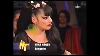"""NINA HAGEN 2003 full discussion + """"I Want To Be Happy"""" live GERMAN TV"""