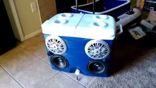 Stereo Cooler Ice Chest Radio Cooler Pyle 4 Channel Amp