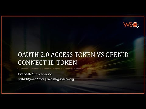 OAuth 2.0 Access Token vs. OpenID Connect ID Token