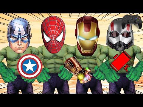 Wrong Superheroes Puzzle   Kids Exercise Game with Hulk   슈퍼히어로 헐크 Hulk 스파이더맨 캡틴아메리카 얼굴 무기 맞추기