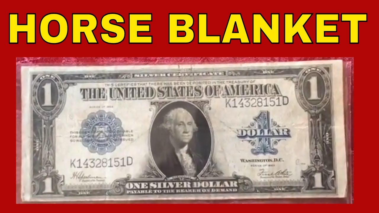 Rare One Dollar Silver Certificate Bill Worth Money Currency To