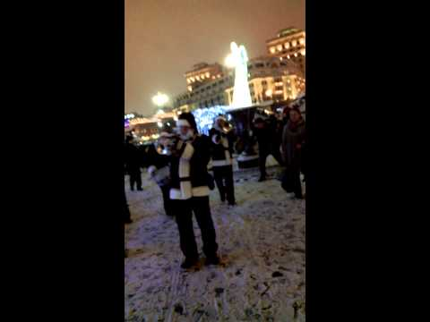 04 Valeriy Bukreev Santa Claus Jazz Band 2014 Moscow Mayor Sergei Sobyanin Opens a Christmas Fair at