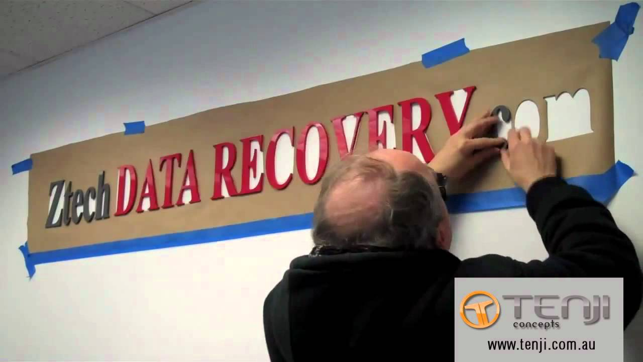 Installing Acrylic Letters