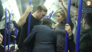 Video shows men rushing to woman's aid in fake sex assault on London Tube train