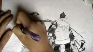 Speed Drawing | Asuma vs Hidan (Naruto) | OtnaxI2