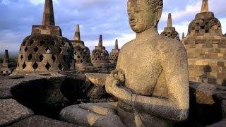 インドネシア・ジャワ島、世界遺産〔ボロブドゥール寺院遺跡群〕
