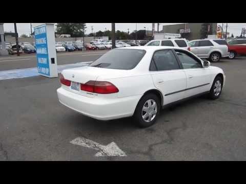 1999 Honda Accord, White - STOCK# 11256