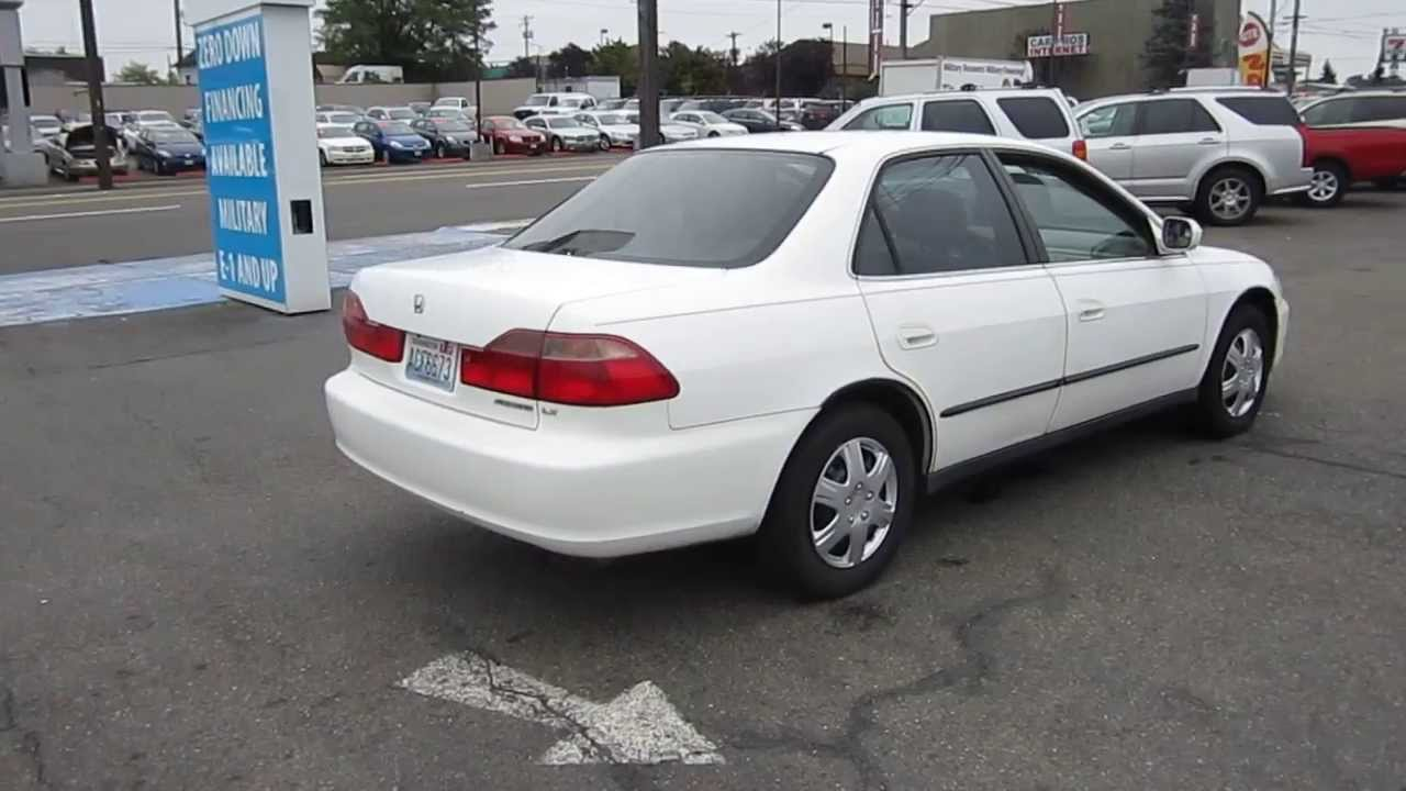 1999 honda accord white stock 11256 youtube. Black Bedroom Furniture Sets. Home Design Ideas
