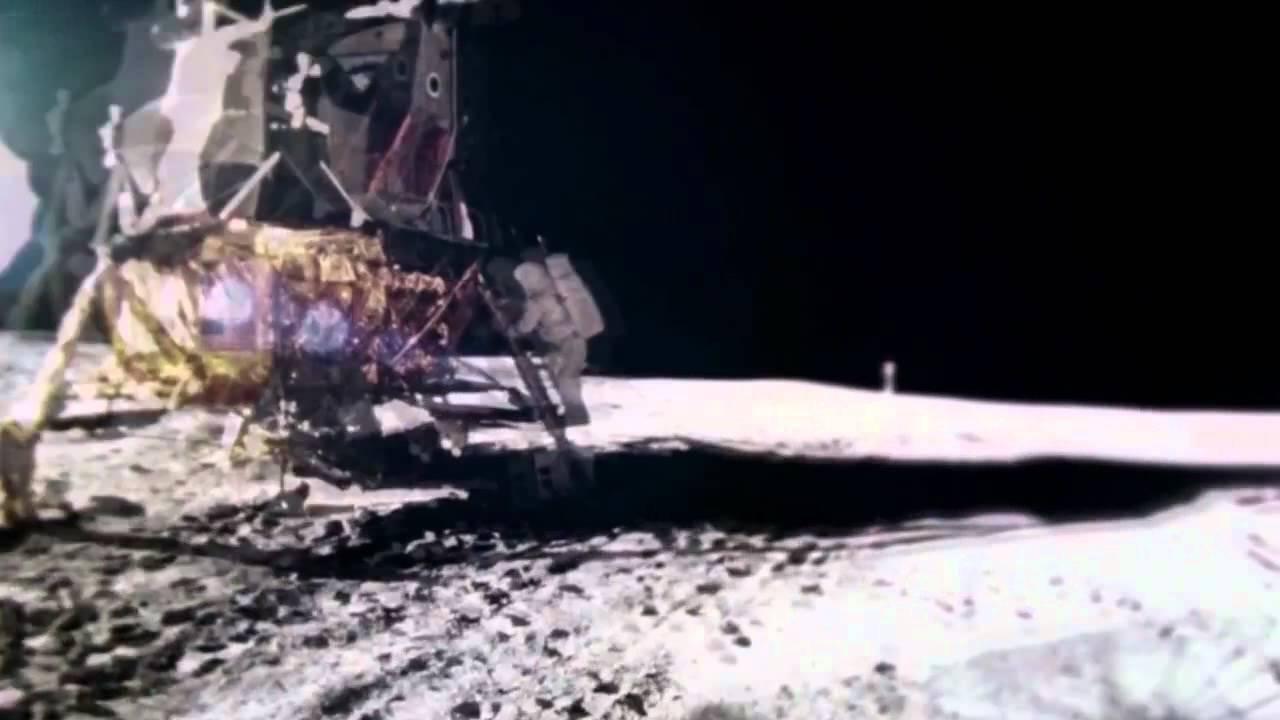 Large Tower near Apollo Moon landing? official NASA HD ...