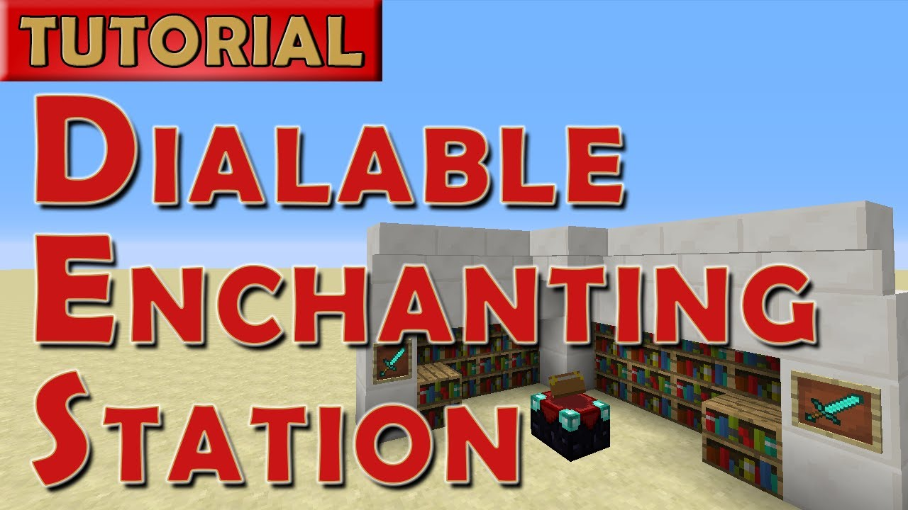Minecraft Tutorial Dialable Enchanting Station For 1 8