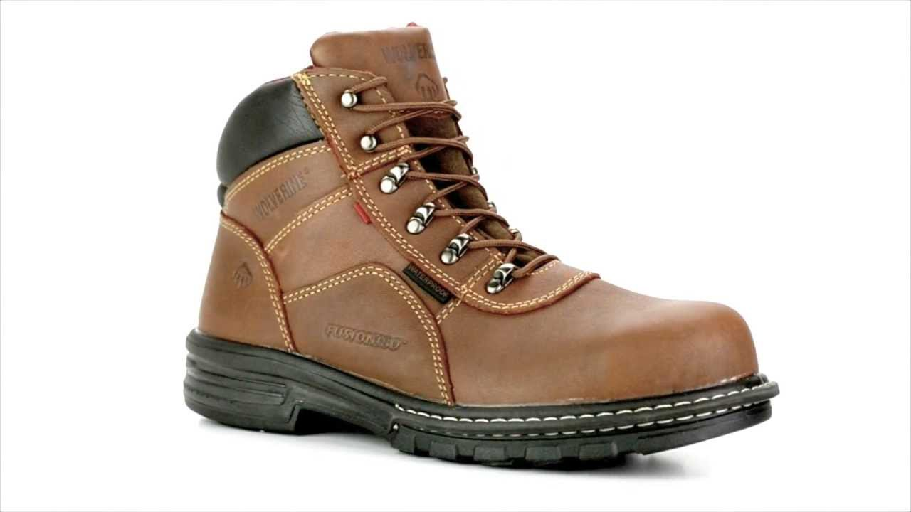 4c34f42ab05 Men's Wolverine W02349 Steel Toe Waterproof Work Boot @ Steel-Toe-Shoes.com