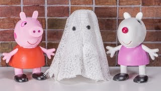 Pranks For Halloween Movie 👻 Funny Peppa Pig and Fiends 👻 Stop Motion Friendly Ghost 👻
