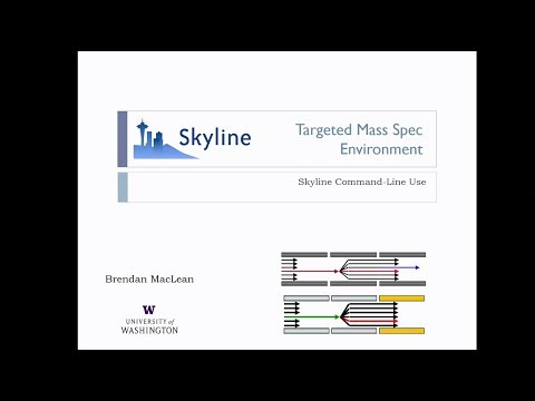 SkyJam 4 Skyline Command Line - Brendan MacLean - DIA/SWATH Course 2017 - ETH Zurich