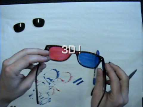 3D Glasses Made Using Glasses (Spectacles)