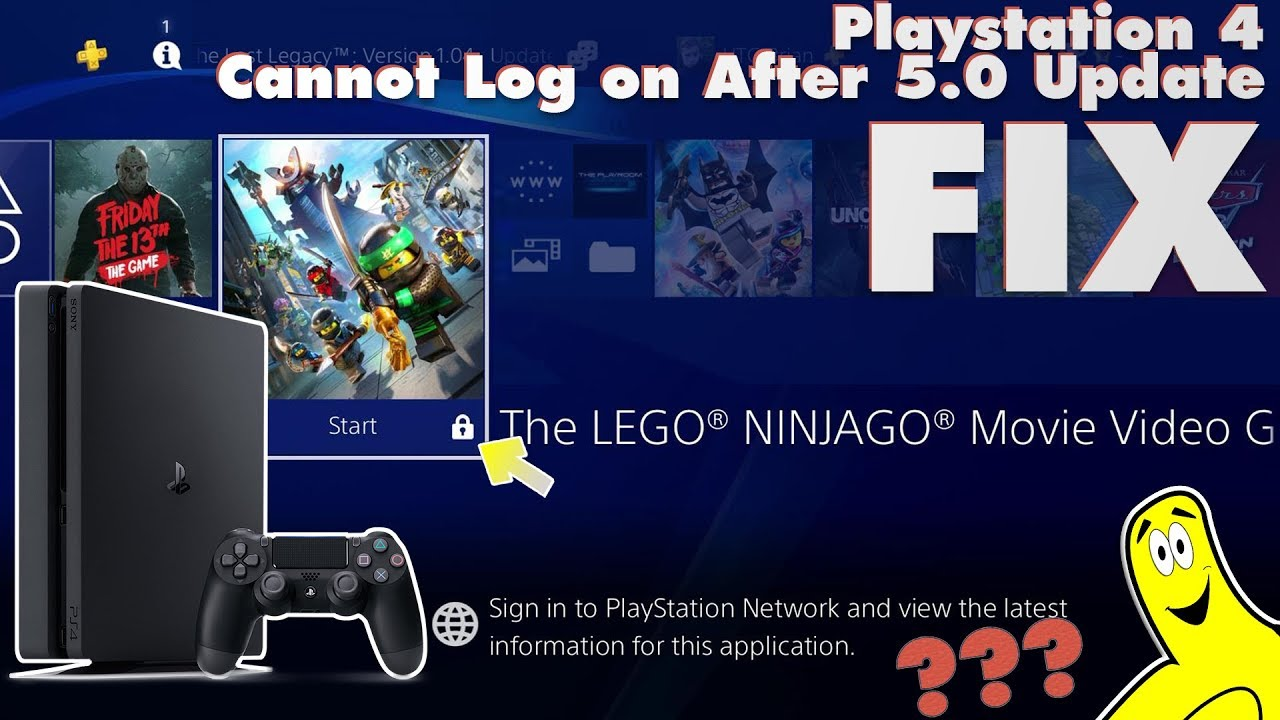 sony playstation 4 cannot log on to psn after 5.0 update fix (psn