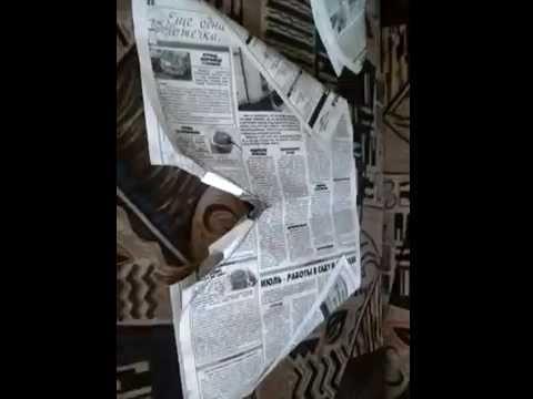 Шорты для мальчика из бумаги, газетного листа.