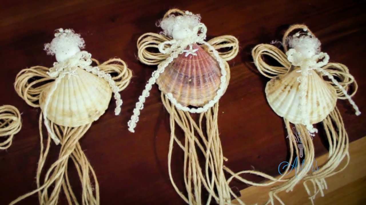 Arts And Crafts Tutorial How To Make SeaShell Fairy Christmas Tree Decorations