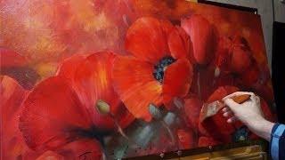 """Мак"" Олег Буйко. Масляная живопись. Oil painting. 油畫  油絵"