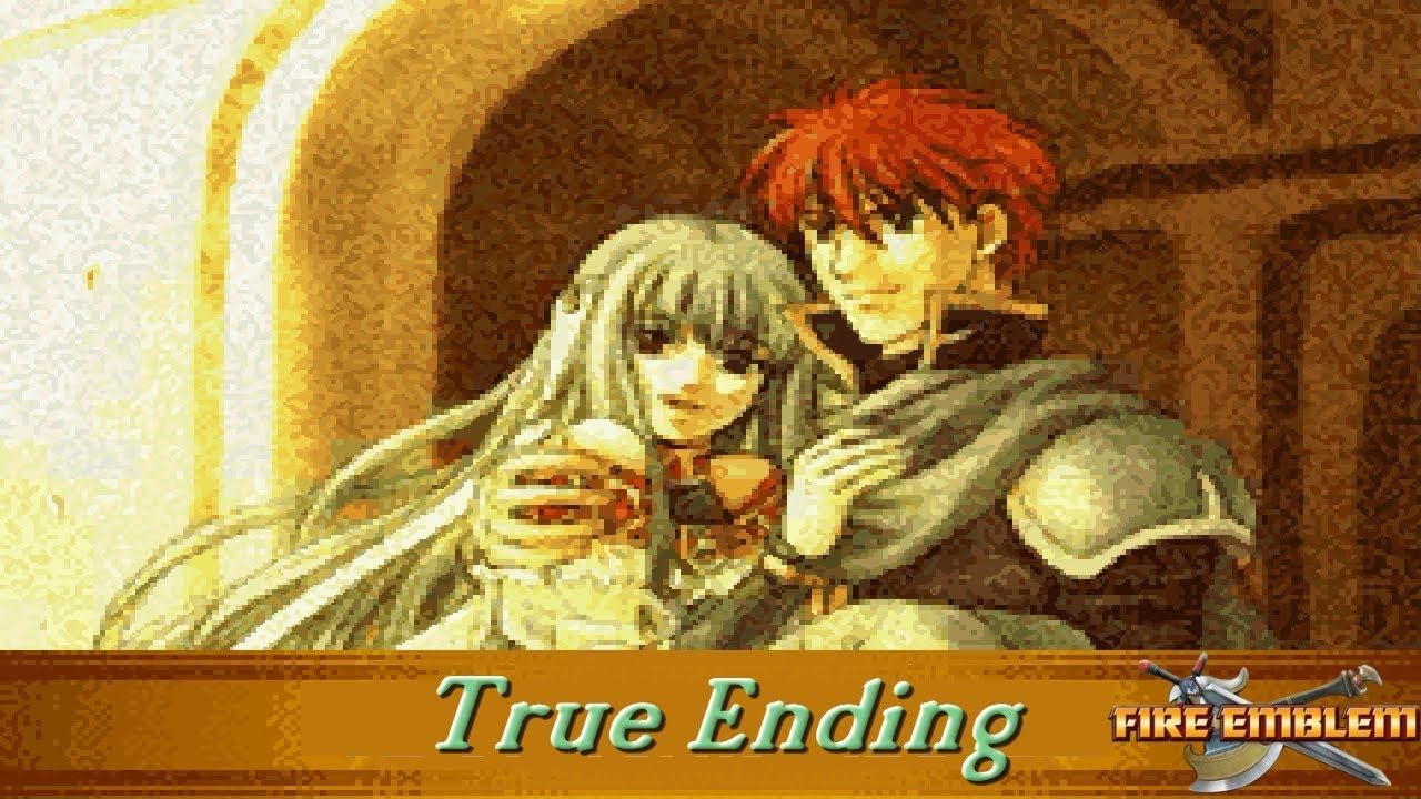 Fire Emblem The Blazing Blade Cutscenes Ninian Ending And
