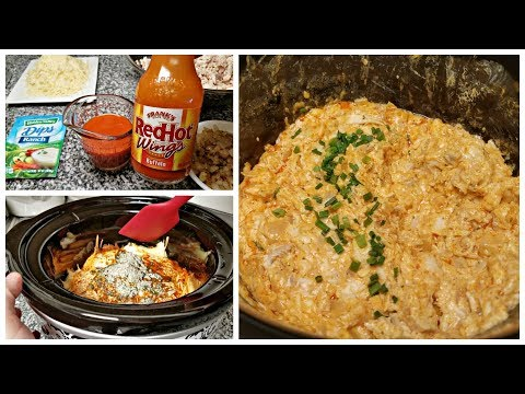 BUFFALO CHICKEN DIP RECIPE | CROCK POT CHICKEN DIP RECIPE | Frank's Red Hot Chicken Buffalo Dip