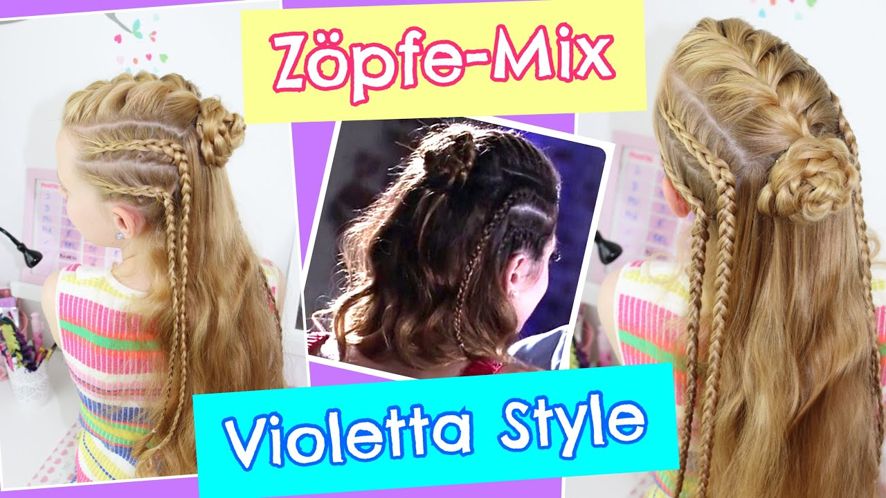 z pfe mix violetta style sommerfrisur coole m dchen z pfe frisuren youtube. Black Bedroom Furniture Sets. Home Design Ideas