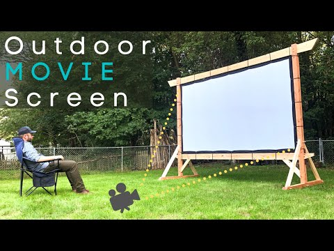 Making An EPIC Outdoor Movie Screen! // DIY Woodworking // How To